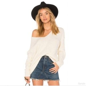 NWT Free People Lofty V-Neck Pullover Sweater